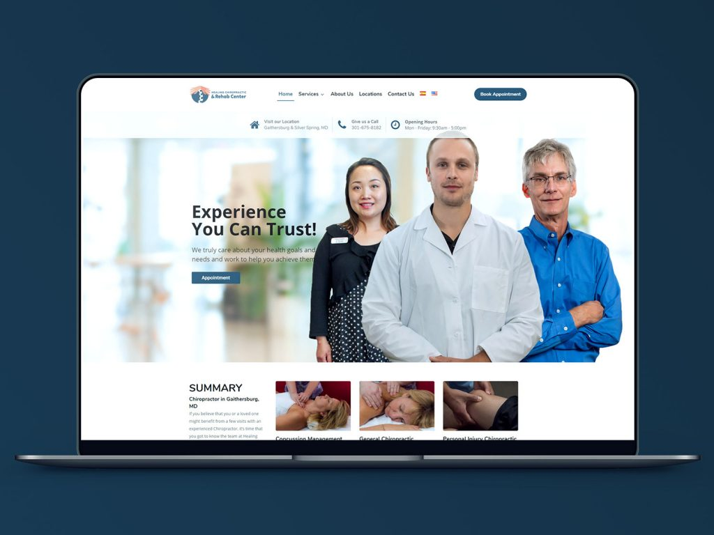 Healing Chiropractic & Rehab Center Full Brand Development